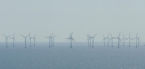 Windräder im Offshore Park