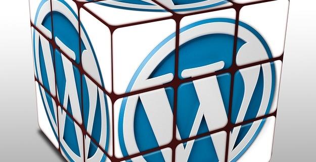 Zauberwürfel mit WordPress-Logo