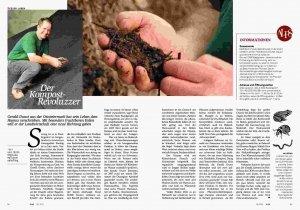 Foto der Reportage über Gerald Dunst in der Zeitschrift Alps
