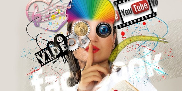 Interaktionen Online Medien, Gesicht , Facebook, YouTube